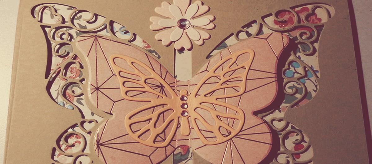 Karte Butterfly